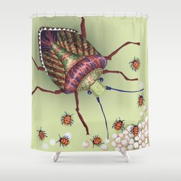 The Stink Bugs Are Coming! Shower Curtain