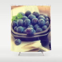Blueberry plate Shower Curtain