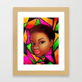 Wise Afro Natural hair Framed Art Print
