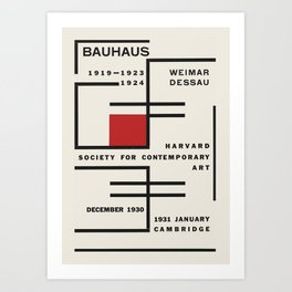 Bauhaus - Exhibition poster for Harvard Society for Contemporary Art, 1931 Art Print