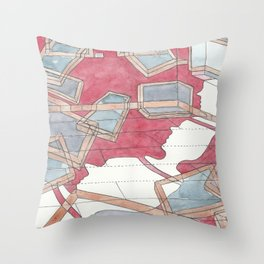 Everything is moving out Throw Pillow