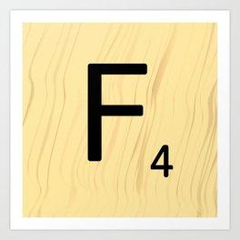 Scrabble F Decor, Scrabble Art, Large Scrabble Prints, Word Art, Accessories, Apparel, Home Decor Art Print