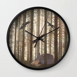 Forest Spirit Bear Wall Clock