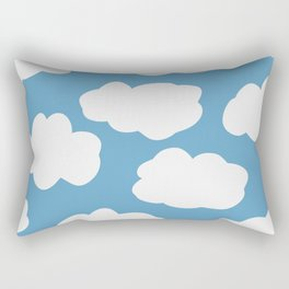 Blue Sky and Fluffy White Clouds Rectangular Pillow