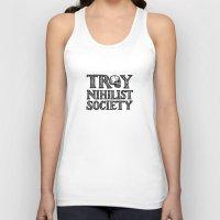 caleb troy Tank Tops featuring Troy Nihilist Society Shirt by Enonokephas