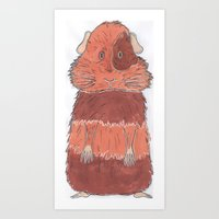 guinea pig Art Prints featuring Guinea Pig by L9huis