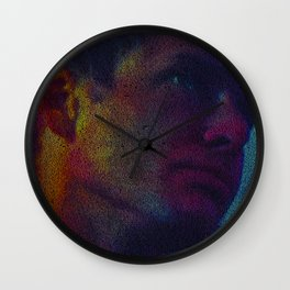 Deckard: Blade Runner Screenplay Print Wall Clock