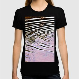 Pink Sky Reflected in Ripples T-shirt