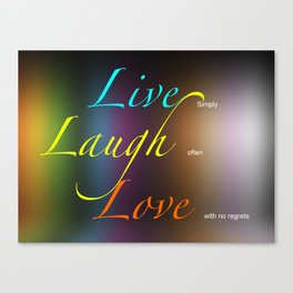 Live, Laugh, Love Canvas Print