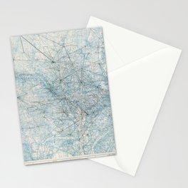 Triangulation Diagram, Washington D.C. (September 1962) Stationery Cards