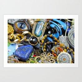 Jewelry Cluster 2 Art Print