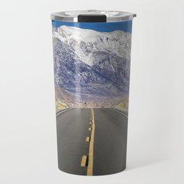 Snowcapped Sierras Highway 136 Travel Mug
