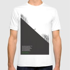 Downhill White MEDIUM Mens Fitted Tee