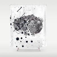 brain Shower Curtains featuring Brain by Alexander.Leake