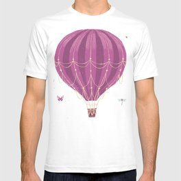 Fly Balloon With Birds And sparkle T-shirt