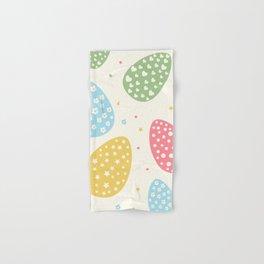 Easter Egg Stars Hearts and Flowers Hand & Bath Towel