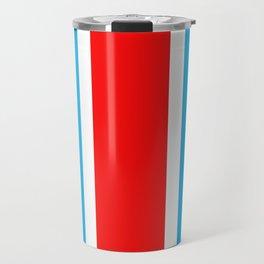 TEAM COLORS 10...RED , WHITE LIGHT BLUE Travel Mug