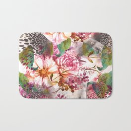 Animal flowers abstract Bath Mat