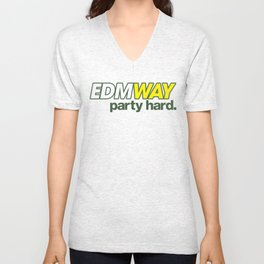 EDMWAY Party hard (Green) Unisex V-Neck