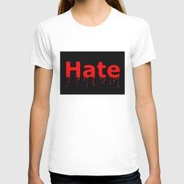 Hate Blood Text Black T-shirt