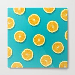 Oranges - Fruit Pattern Metal Print