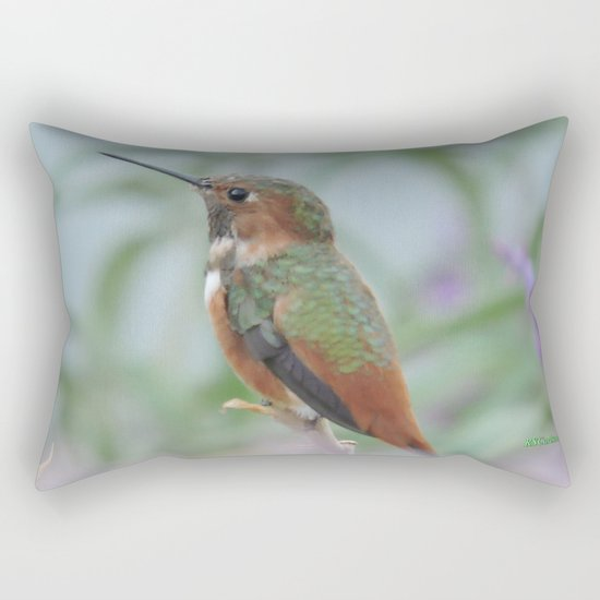 Allen's Hummingbird Sentinel Rectangular Pillow