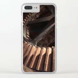 Grist Mill Gears Clear iPhone Case