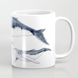 Humpback whale with calf Coffee Mug