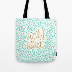 Wild at Heart – Turquoise & Gold Tote Bag