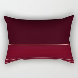 Rich Burgundy Ombre with Gold Stripes Rectangular Pillow