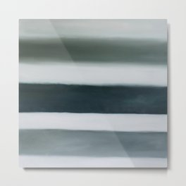 grey strata Metal Print