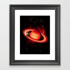 SATURN SKATING Framed Art Print