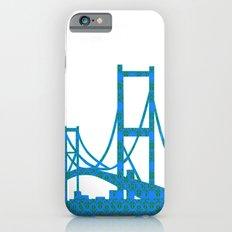 Golden Gate Bridge in blue and green colour iPhone 6s Slim Case