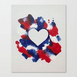 Willa Patriotic Heart Canvas Print