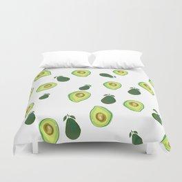 Fun fruit avocado print, kitchen decor, fruit aesthetics Duvet Cover