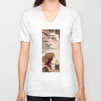 smoke V-neck T-shirts featuring Smoke by Kimball Gray