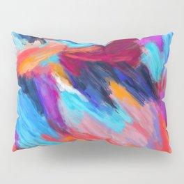 Bright Abstract Brushstrokes Pillow Sham