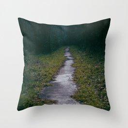 Green Sighs Throw Pillow