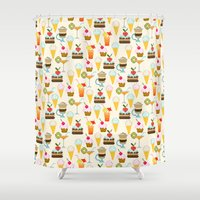 dessert Shower Curtains featuring Dessert by Valendji