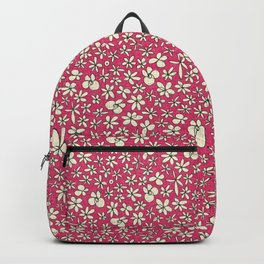 garland flowers pink Backpack