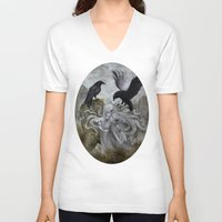 ghost V-neck T-shirts featuring Ghost by Savannah Horrocks