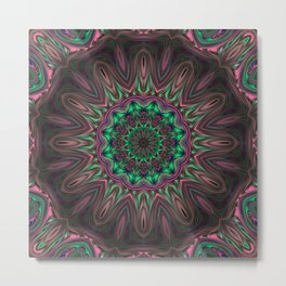 The Fire That Never Burn Mandala Metal Print