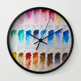 Watercolor Swatches Wall Clock