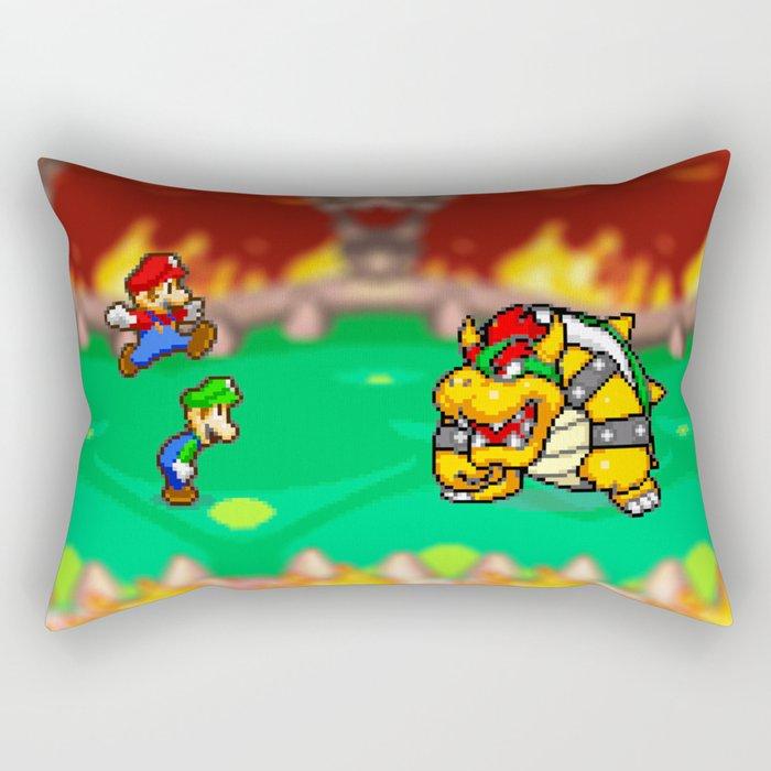 Bowser Battle! Rectangular Pillow
