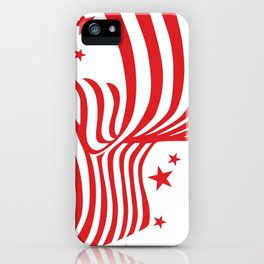 AMERICAN FLAG  & RED STARS JULY 4TH ART iPhone Case