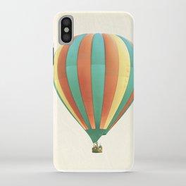 Hot Air Balloon Photography, Orange Green Yellow Colorful Nursery Photo iPhone Case