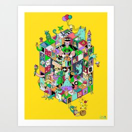 Isometric Playground Art Print