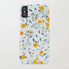 Orange Tree iPhone Case