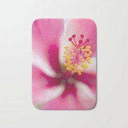 Tropical flower art (Pink hibiscus) Bath Mat