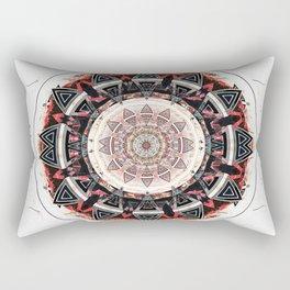 Fierce Bold Solar Aztec Meditation Mandala Rectangular Pillow